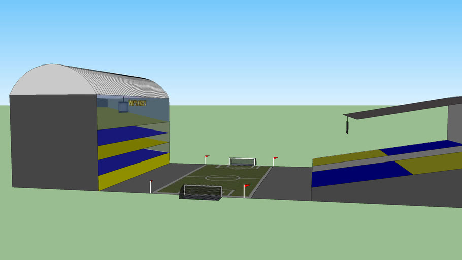 a new and improved football pitch pls pls rate  it!!!!!