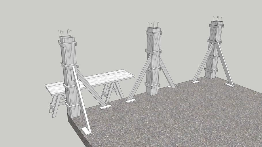 Encofrado de las columnas