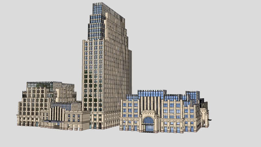 SketchUpBBS-新古典办公楼模型