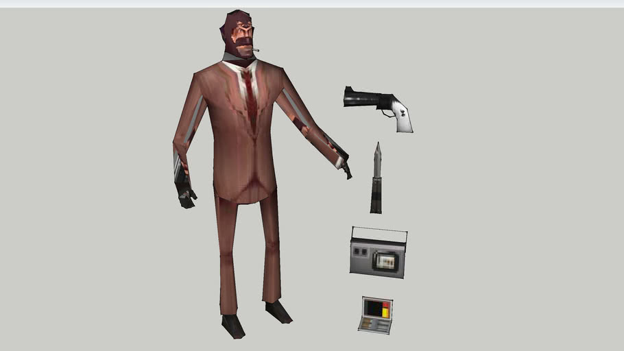Team Fortress 2 Spy Red 3d Warehouse