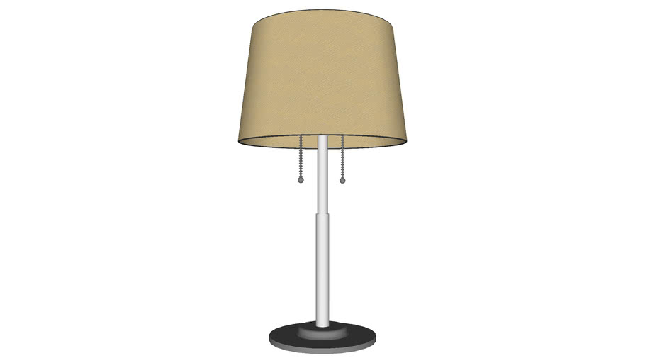 Modern Desk Lamp Round Shade - Detailed