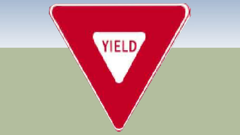 Yield sign without post