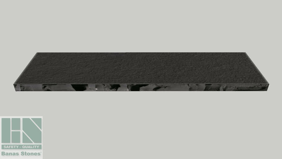 "Banas® Stones Premium Natural Wall Coping - 16"" x 60"" - Kota Black RF1"