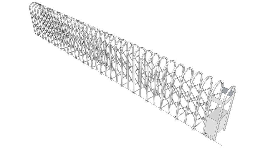 白鐵伸縮門-1
