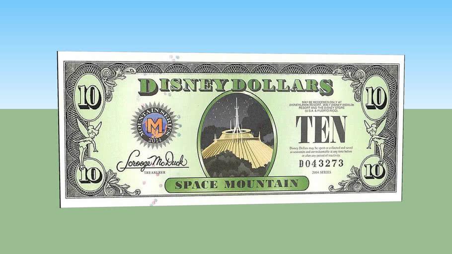 Ten disney dollars - 10 $