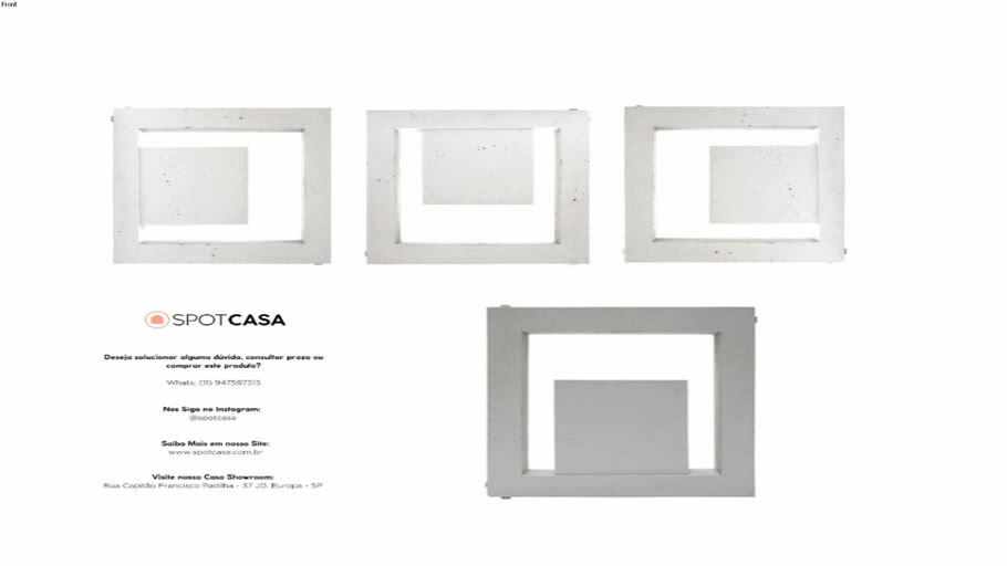 Cobogó Itacoá Cube Gauss 40x40
