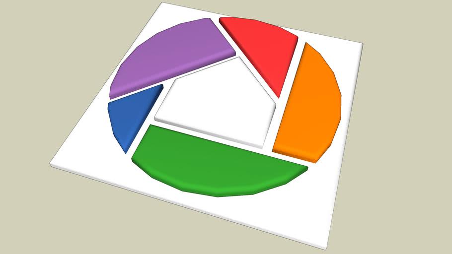 Google Picasa Logo 3D
