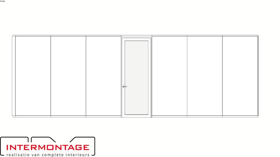 Stalen systeemwand - VNS - Intermontage