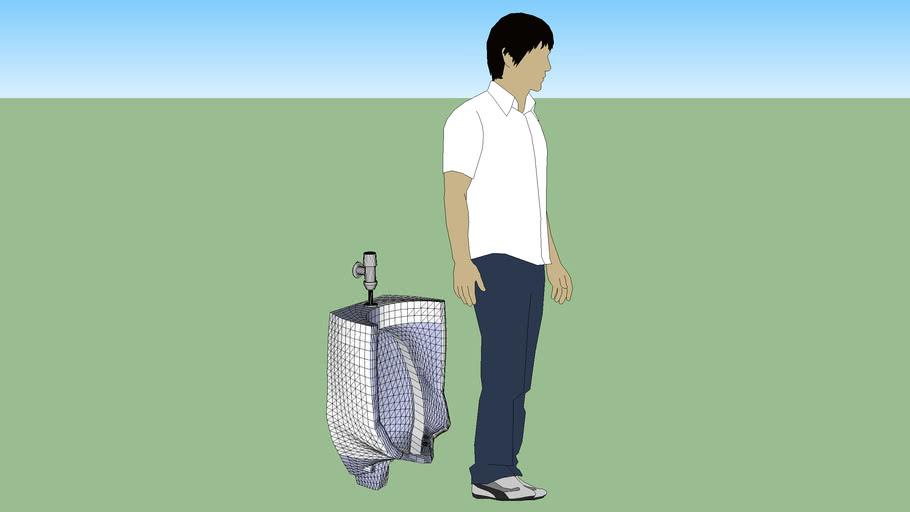 Wall Urinal w/Flush Valve