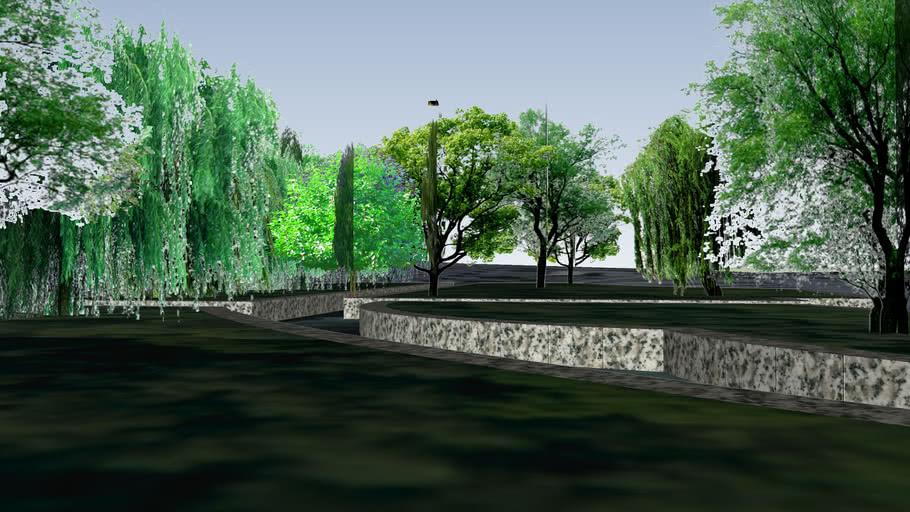 景德镇休闲广场元素立体化东北