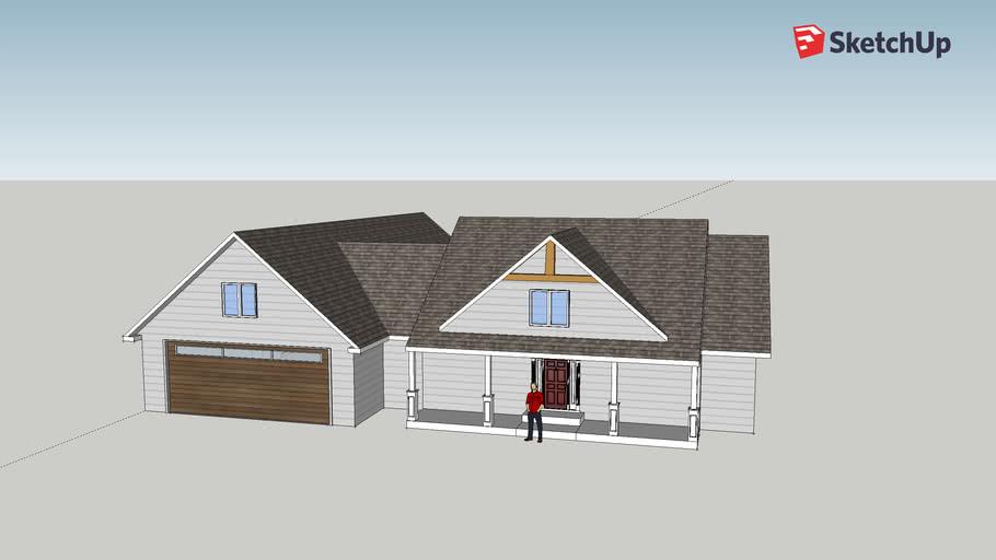 Marks Kidder Road House Design 8 12 Pitch Roof 3d Warehouse