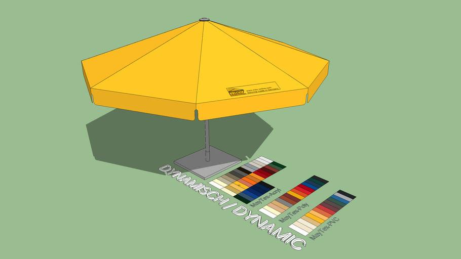 May Schattello 5m Round Market Umbrella