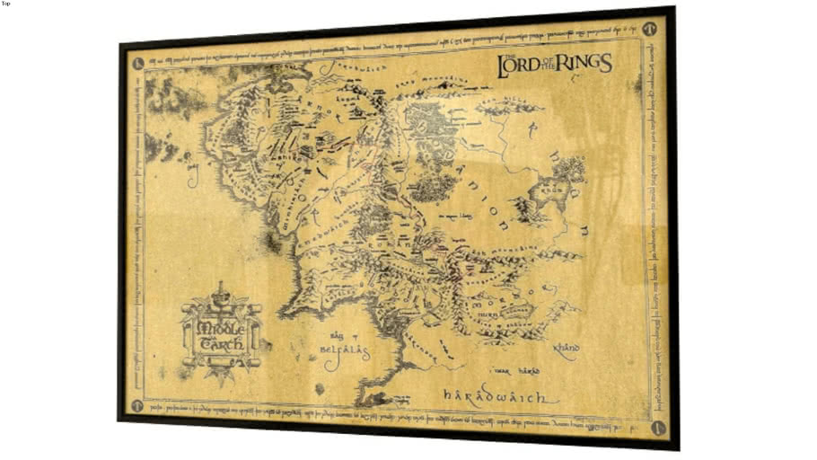 Picture Lotr Middle Earth Map 3d Warehouse