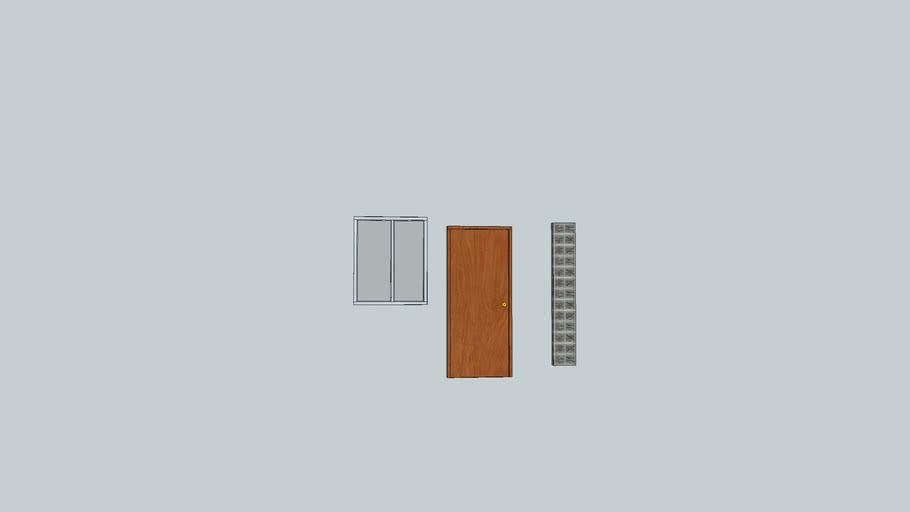 puerta madera 90cm y ventana