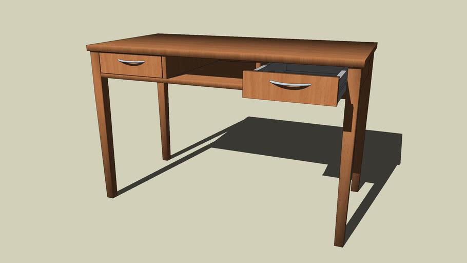 stůl se zásuvkami