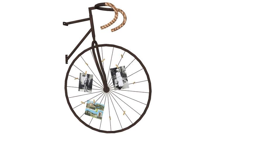 64559 Wall Decoration Memo Holder Bike