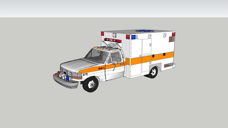 ambulance type l ford 350 model 1995