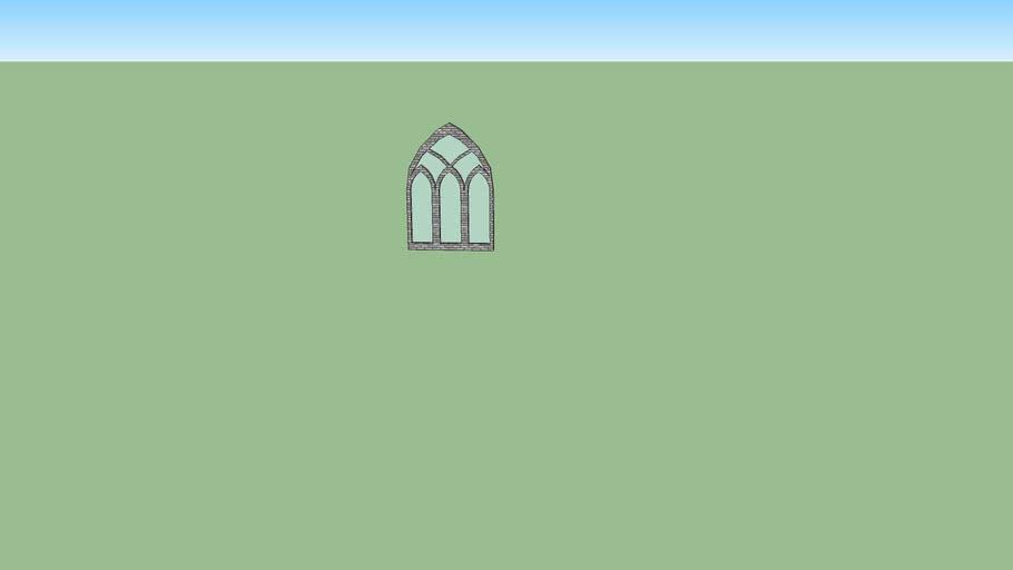 ventana gotica de tres averturas