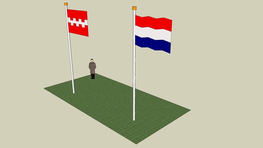 The Dutch Flag & The Flag of the City of Buren