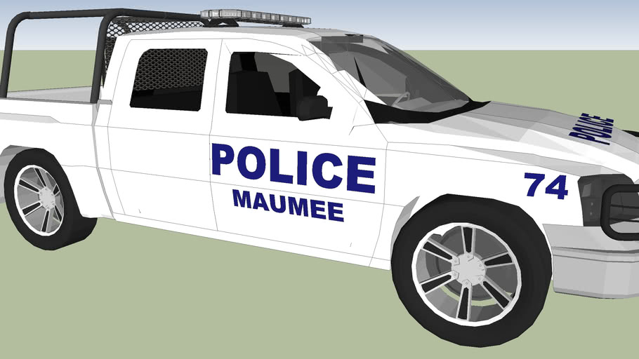 Police patrol Maumee. UNITED STATES OF AMEIRCA