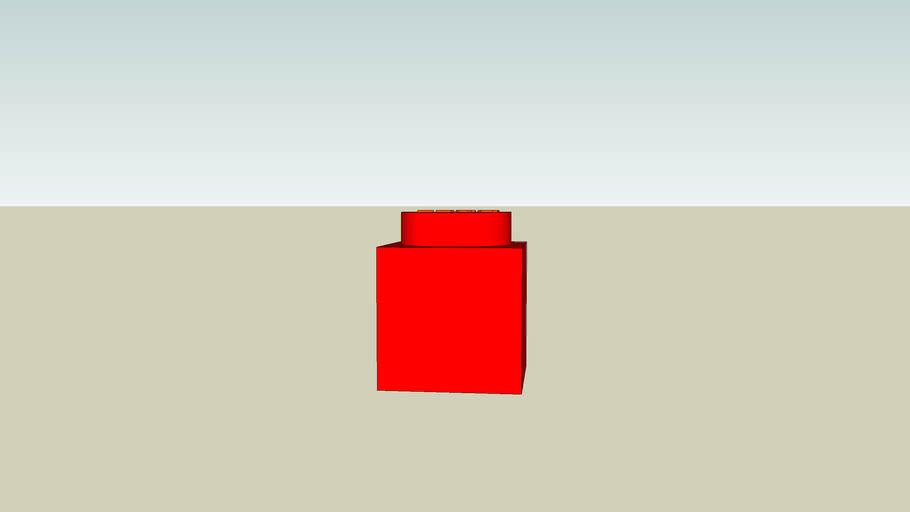 Red (One Stub) Lego Brick