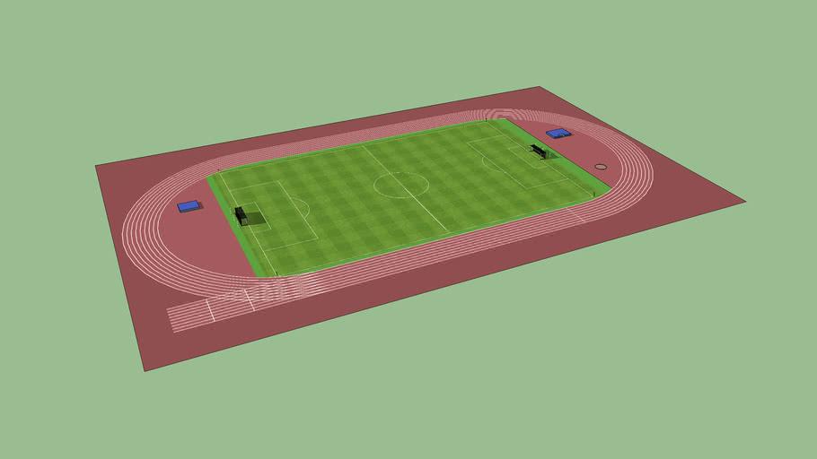 Campo De Futebol Com Pista