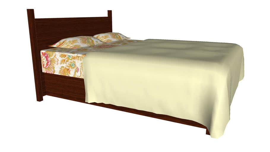 Queen Size Bed - Detailed