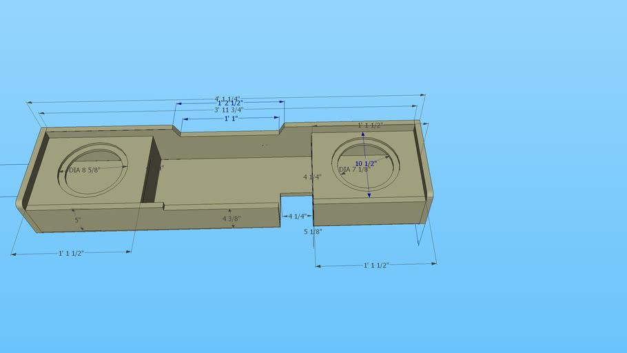 00-03 F150 speaker box