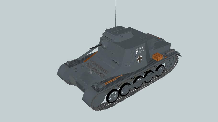 Kl PzBfWg I, Sd.Kfz. 265 command tank.2nd Panzer Division,Balkans, April 1941