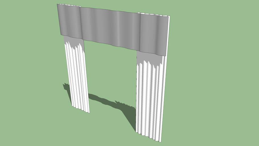 Cortinas simples. Curtains.