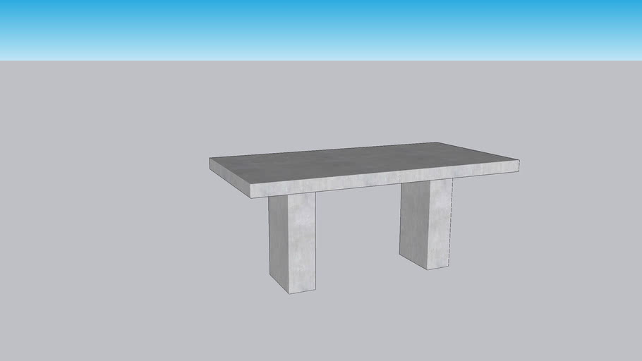 Grace Modern Classic Durable Grey Concrete Rectangular Outdoor Dining Table - Small