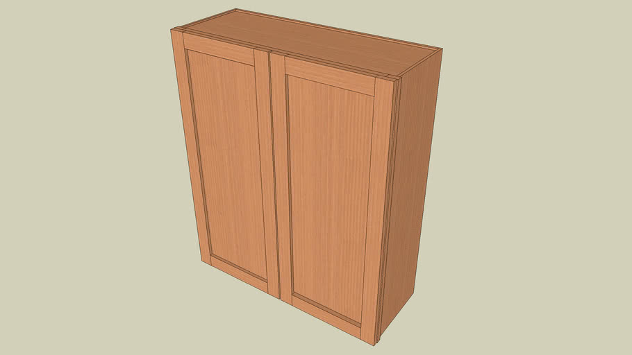 Wall_Cabinet_2Door_39Hx33Wx12D_shaker