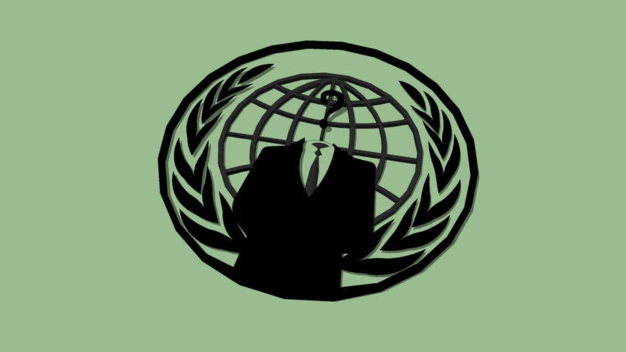 Simbolo dos anonymous 3D