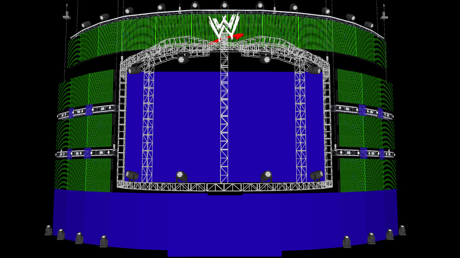 WWE Elimination Chamber 2013 Concept stage Model