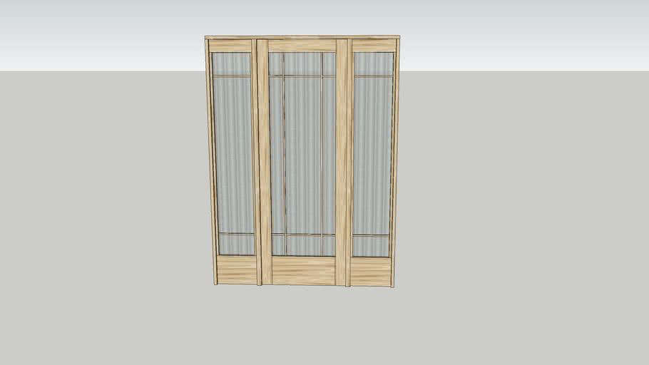 """2'-6"""" Door with sidelights"""