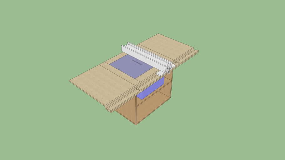 Table scie sous table avec guide et rallonge