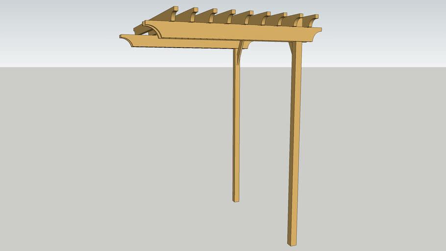 Mái gỗ cây leo