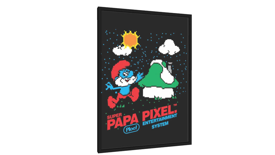Quadro Super Papa Pixels - Galeria9, por PIPPI