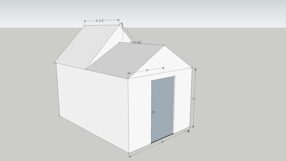 small shed with roof options