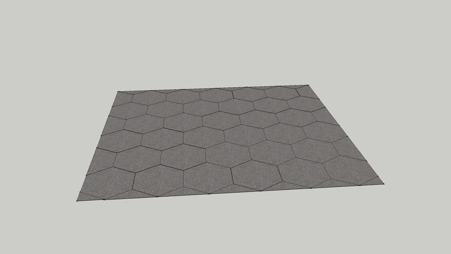 9x10 foot hex tile square