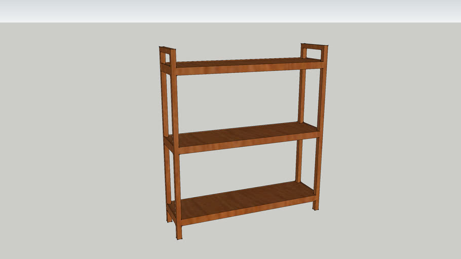 Book Case/Shelve 3 Tier White Real Dimensions