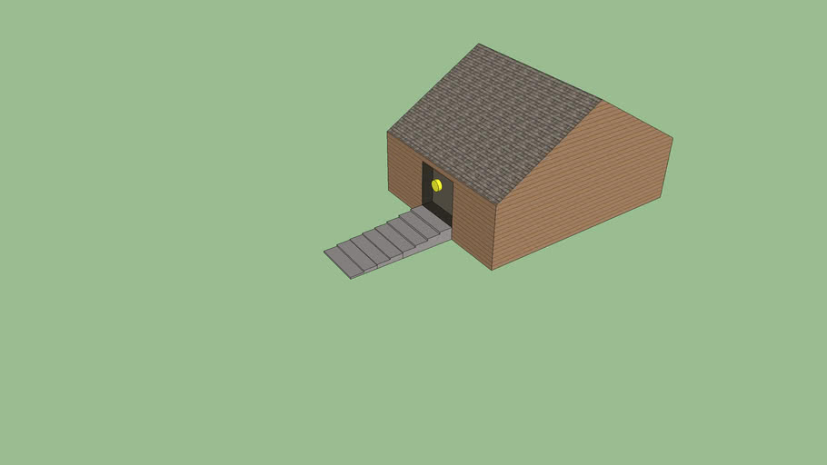 House with Tan Siding and Steps