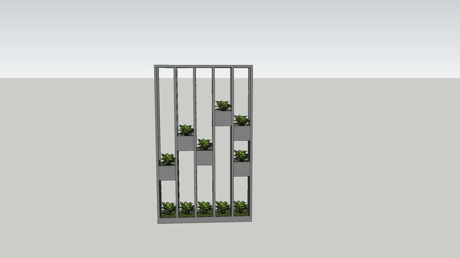 partition with plants