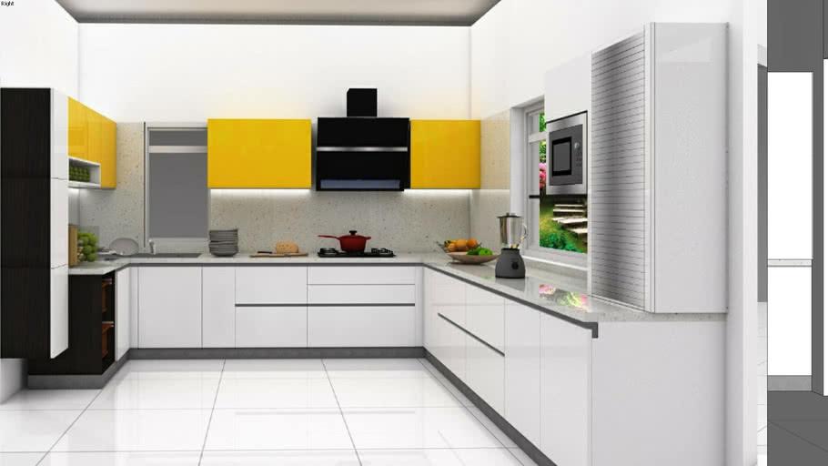 modular kitchen  3d warehouse