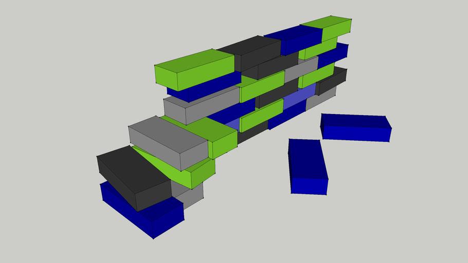 Foam Blocks Wall and Seats