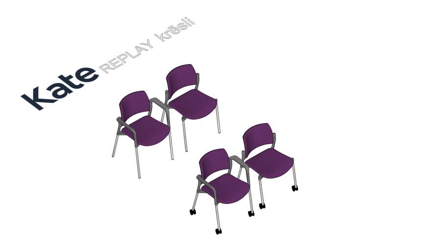 KATE Replay apmeklētāju krēsls