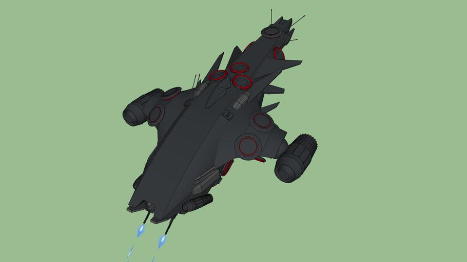 Hunter-Killer Matrix Hybrid Gunship