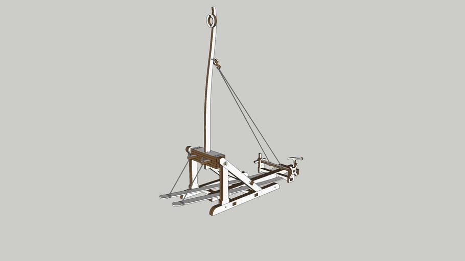 Einarm Medieval siege machine
