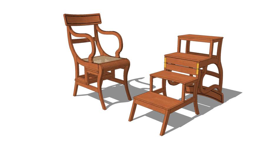 Regency library step chair