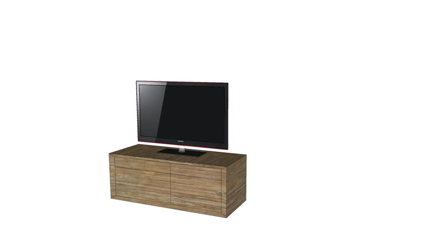 Tv Meubel Hangend.Eth Quartz Klein Hangend Tv Meubel 3d Warehouse